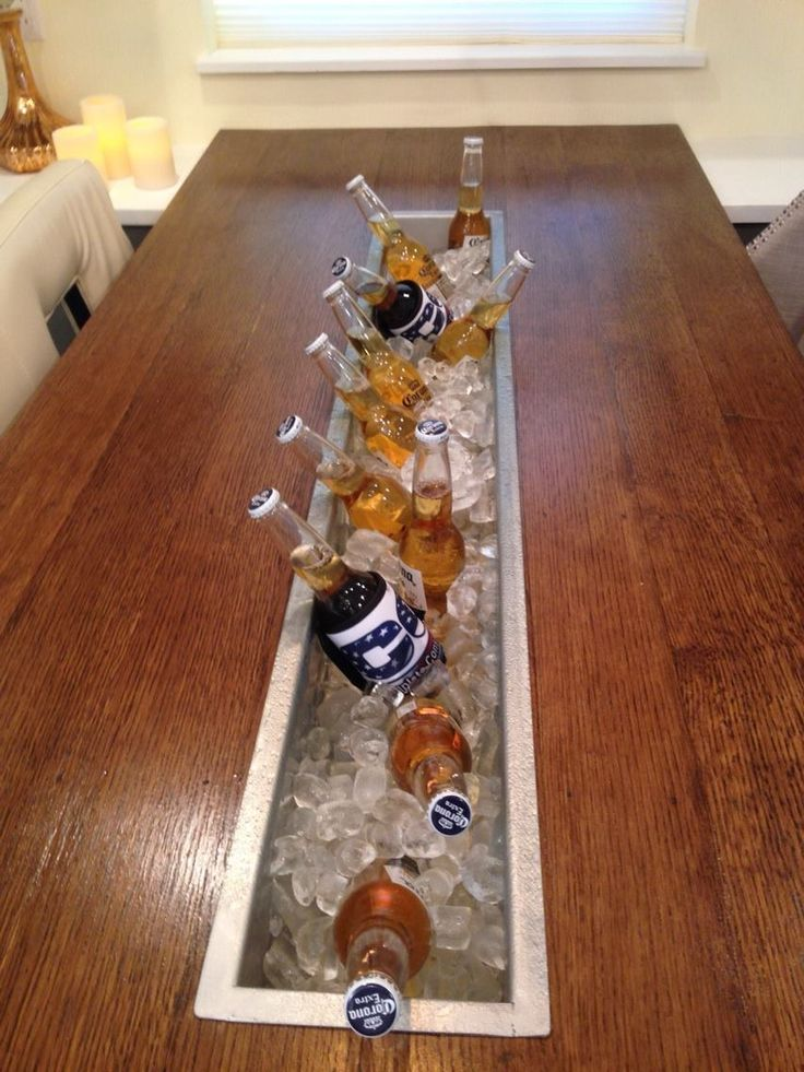 kitchen table top we made, complete with beer trough. This was out 3rd episode of Kitchen Crashers