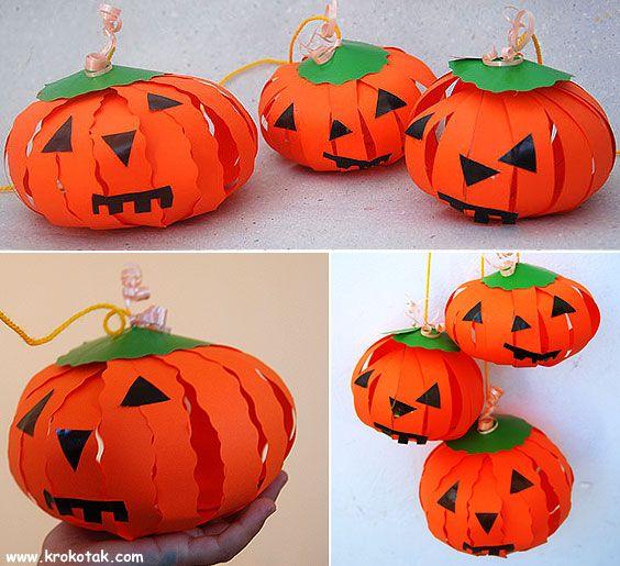 Paper Strips Pumpkins