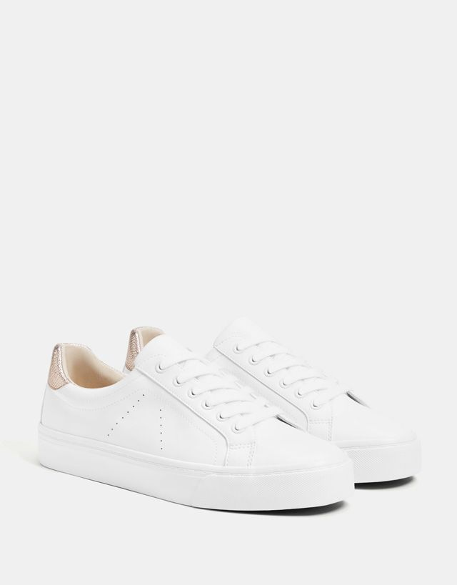 Lace-up trainers with heel detail