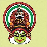 Illustration Of Kathakali, A Divine Kerala Art Form
