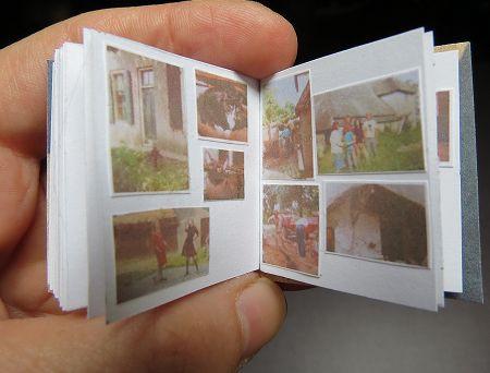 Het miniatuur fotoalbum  Miniature photoalbum