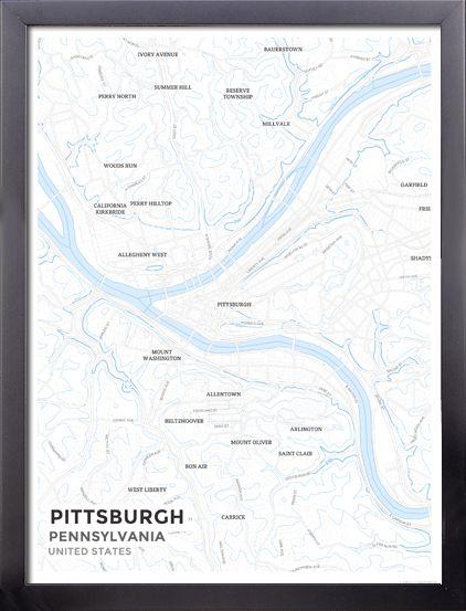 Best Pittsburgh Map Ideas On Pinterest Pennsylvania - Us map pittsburgh pennsylvania
