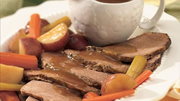 Horseradish comes out of the jar and into the recipe for this long-simmering roast, with plenty of potatoes to soak up delicious juices and flavor.