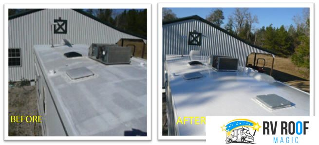 Material Review To Fix Repair Rv Roof Leaks Benefits Vs Weather Conditions In 2020 Liquid Roof Roof Coating Roofing
