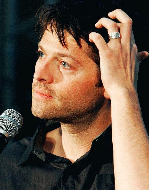 Misha Collins. is it weird that I'm in love with his wedding ring??