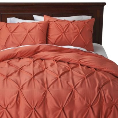 Threshold™ Pinched Pleat Duvet Cover Set- target. Love the coral color!!!