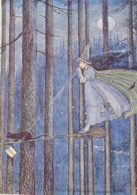 Walpurgis Night #witch #coven #postcard