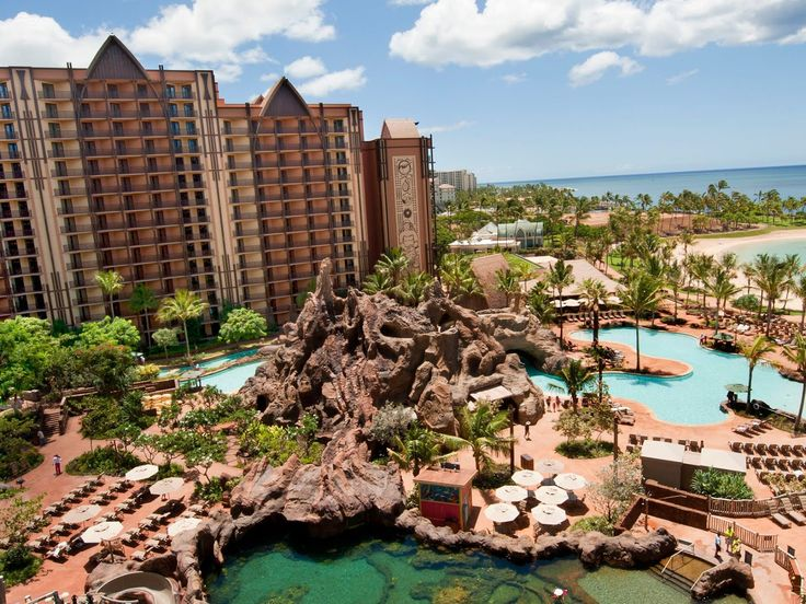 """Forget saving the best for last. When it comes to family-friendly hotels in Hawaii, Disney's Aulani resort tops the list, hands down. In addition to the requisite kid-friendly pools and waterslides—of which there are four—the resort offers the most extensive menu of activities, shows, entertainment, and excursions on Oahu. Highlights include the Starlit Hui, a luau-like night of Hawaiian entertainment, movie nights on Halawai lawn, and storytelling by the resort's beloved """"Uncle"""" around the…"""