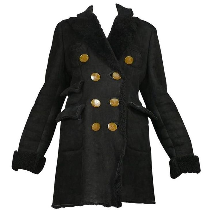 Vivienne Westwood Black Shearling Coat