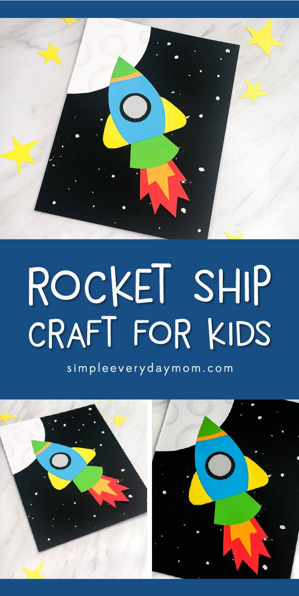 Art And Craft Activities For Kids: Simple & Fun Rocket Craft For Kids