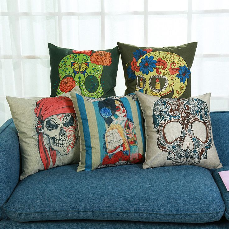 Find More Cushion Cover Information about Cushion Cover Skull Pillows Skeleton Pillowcase Cover Cushion Cotton Linen Sofa Car Seat Decorative Throw Pillow Cover Case,High Quality cushion cover skull,China cushion cover Suppliers, Cheap throw pillow covers from WK HomeTextiles Store on Aliexpress.com