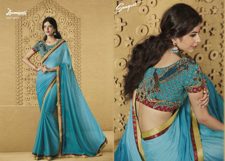 Buy this stunning Chiffon Blue saree along with Fancy Blue Blouse work with Dew drops, Rawsilk Lace, Satin Printed Lace by Laxmipati Saree. #Catalogue #SANGEET Price - Rs. 2083.00 Visit for more designs@ www.laxmipati.com #ReadyToWear #OccasionWear #Ethnicwear #FestivalSarees #Fashion #Fashionista #Couture #SANGEET0816 #LaxmipatiSaree #autumn #winter #women #her #she #mystery #lingerie #black #lifestyle #life #ColoursOfIndia #HappyBride #WhoYouAre #WomanPower #EpicLove #ministryoftextiles