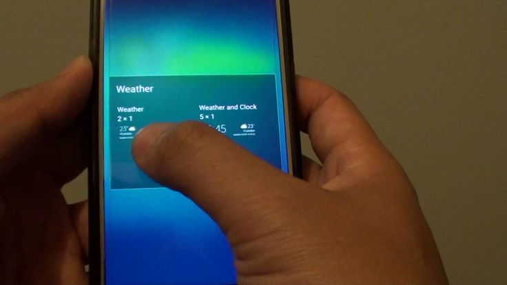 cool Samsung Galaxy S7: How to Add a Weather Widget to Home Screen