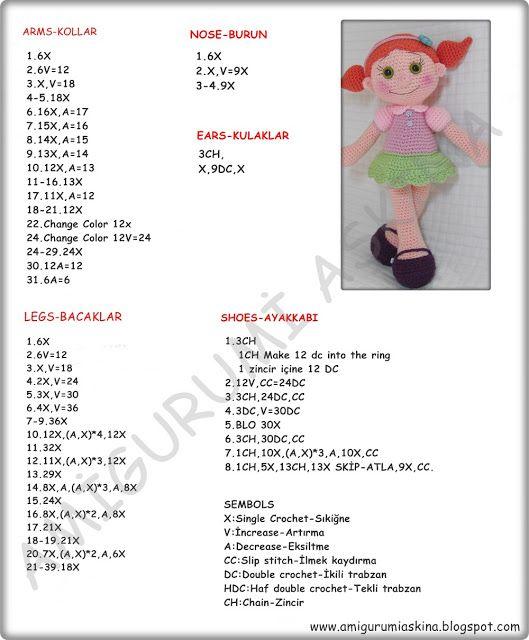 En Güzel Örgülerim: Amigurumi Büyük Safiş Bebek Yapılışı-Amigurumi Free Pattern Doll