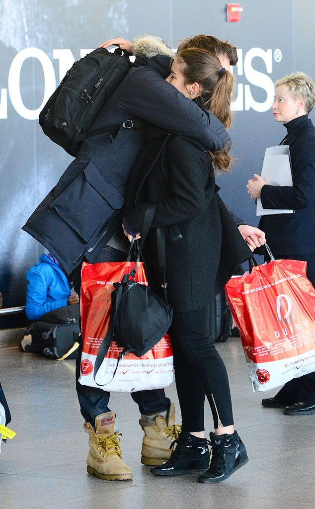 Ansel Elgort and On-Again Girlfriend Violetta Komyshan Pack on the PDA in the Airport?See the Pic!
