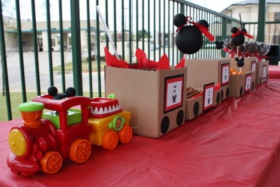 Mickey Mouse train party
