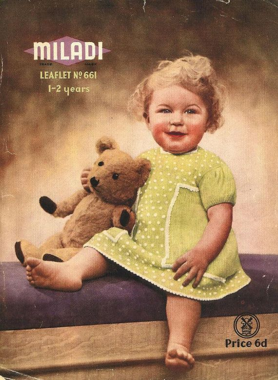 Miladi 661 baby matinee dress vintage baby knitting