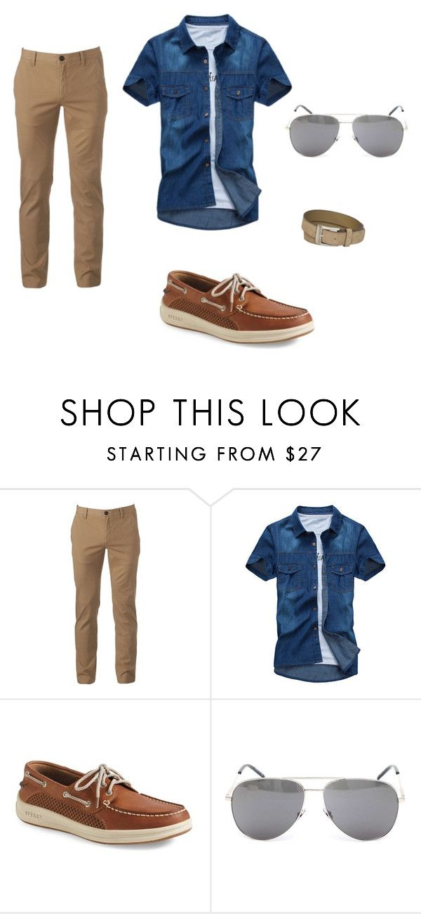 """""""Traje: Esporte ou Casual Chic"""" by andresa-maia on Polyvore featuring Urban Pipeline, Sperry, Yves Saint Laurent, Stacy Adams, men's fashion e menswear"""