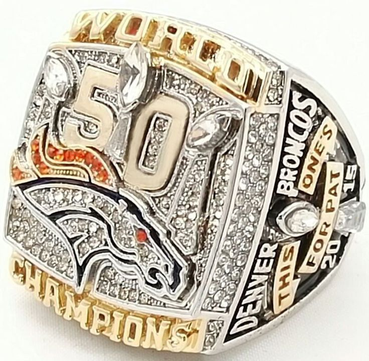 The Denver Broncos 2015 Super Bowl 50 Championship Ring