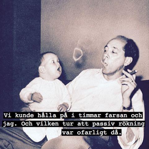 #babies #baby #barn #unge #far #farsa #pappa #farsan #röka #passiv #rökning #humor #löjligt #fånigt #löjligt #kul #skoj #text #foto #fotografi