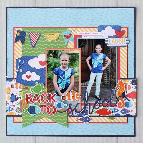 Back to School layout by Jana Eubank for #EchoParkPaper