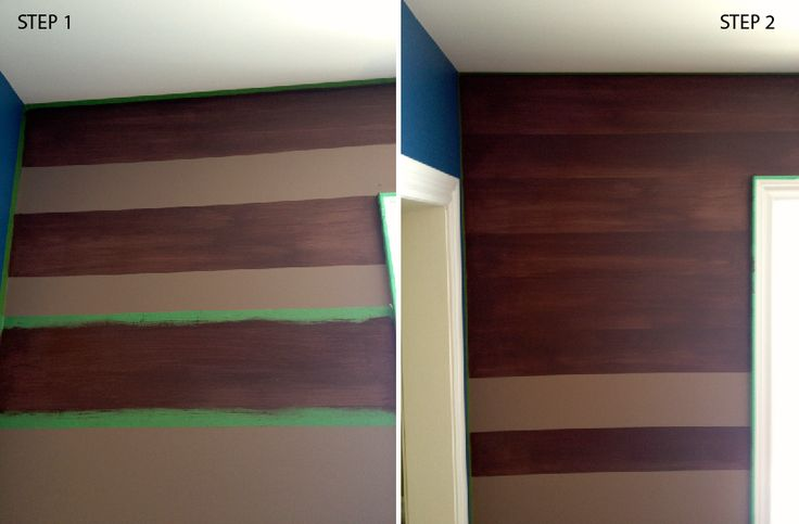 steps of painting a faux wood wall