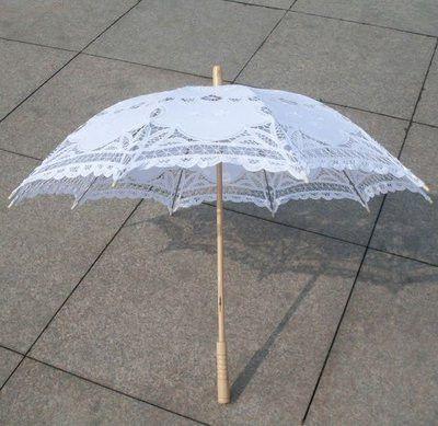 Elegant White Orange Lace Umbrella Parasol Long Arm Bridal Umbrella Fabullous Gothic Umbrella For Wedding