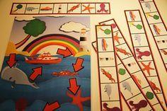 Jeux mathématiques pour apprendre à s'orienter en maternelle.