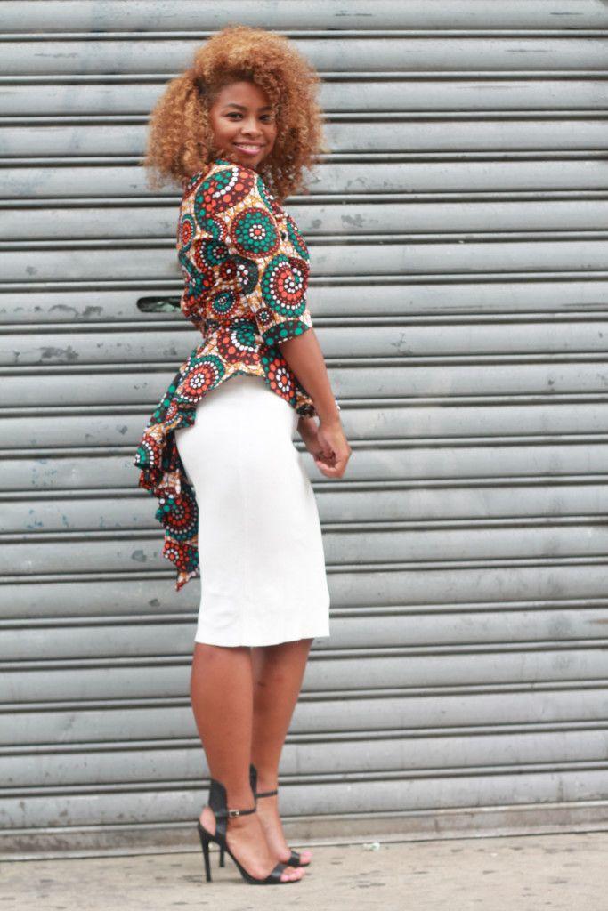 Miss D Peacock Peplum Top ~African fashion, Ankara, kitenge, African women dresses, African prints, African men's fashion, Nigerian style, Ghanaian fashion ~DKK