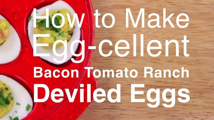 savory twist on classic deviled eggs, simple Bacon Ranch Tomato ...