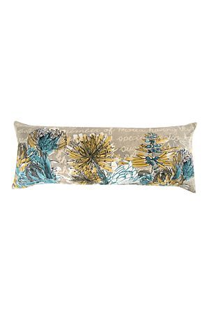 "Add a touch of nature to your bedroom with this floral scatter cushion. This cushion has a matching duvet cover that will co-ordinate perfectly. Measures 30x50cm.<div class=""pdpDescContent""><BR /><b class=""pdpDesc"">Dimensions:</b><BR />L30xW80 cm<BR /><BR /><b class=""pdpDesc"">Fabric Content:</b><BR />100% Cotton<BR /><BR /><b class=""pdpDesc"">Wash Care:</b><BR>Lukewarm machine wash</div>"