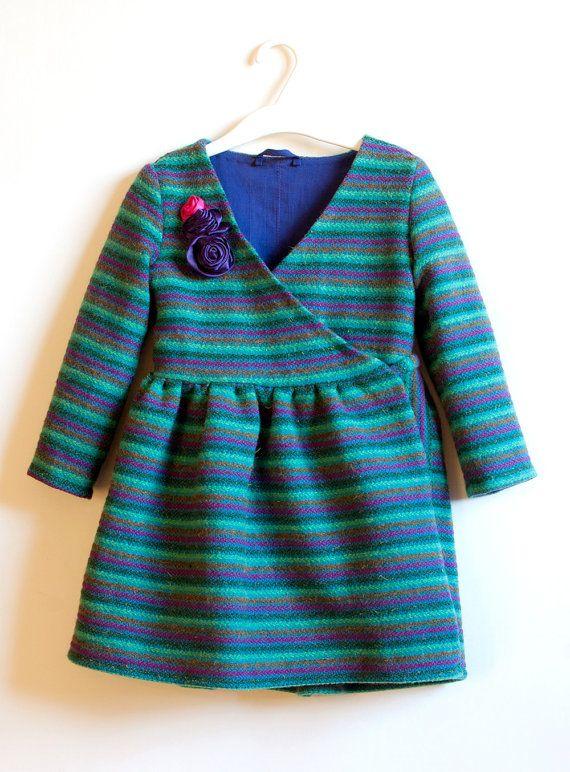Girls Wool Coat Size 4T Girls Toddler Girl Coat Girl's by WELOKI