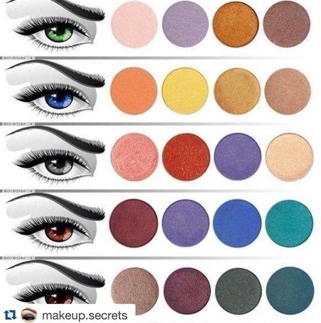 Les couleurs qui mettent en valeur l'iris par contraste.