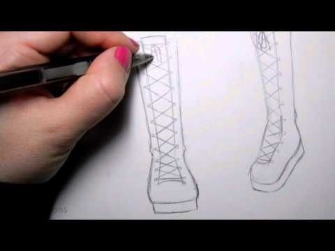 how to draw shoes on a person