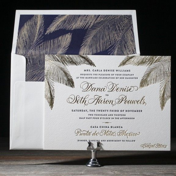 Traditional Palm by Sarah Gluchacki for Bella Figura
