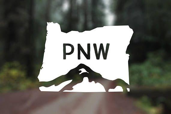 """Pacific Northwest Bumper Sticker PNW Vinyl Window Decal. 4 x 3/"""" Oregon Sticker"""