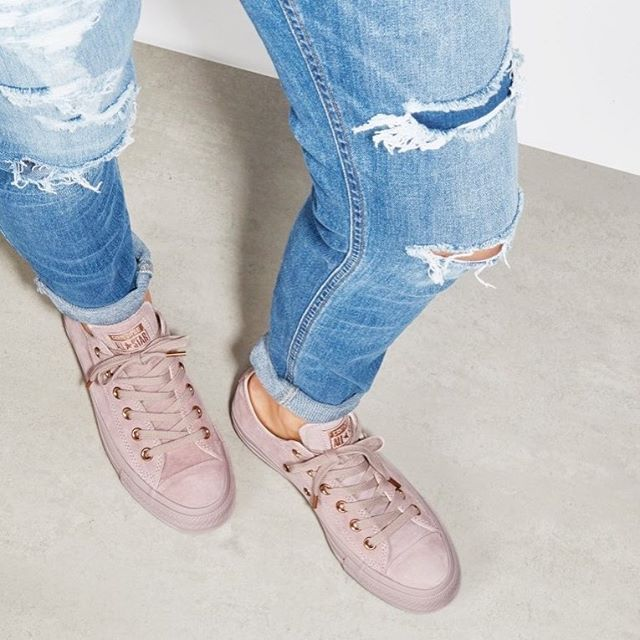 Meet our exclusive All Star Low @Converse in Lilac Rose Gold Suede  Shop straight from our bio #doubletap #exclusive #converse
