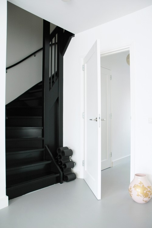 Black stairs...