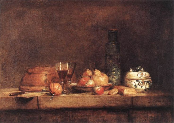 Still Life with Jar of Olives - Jean-Baptiste-Simeon Chardin