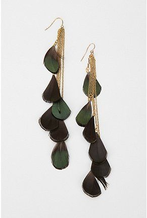 Feather Drop Earring: Feathers Earrings, Uo Feathers, 2014 Urbanoutfitters Com, Feathers Drop, Drop Earrings, Style, Green Feathers, Earrings Urbanoutfitters, Accesories
