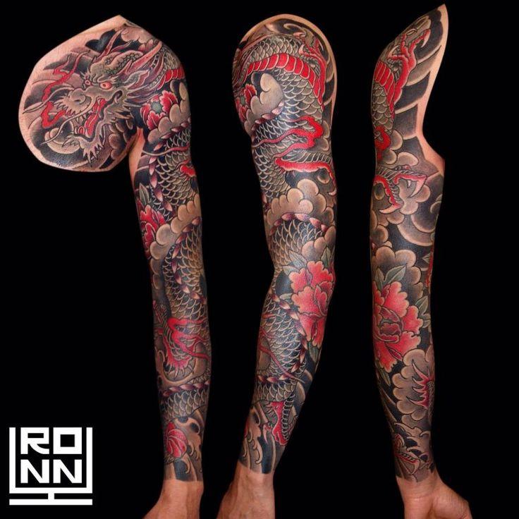 Tatuaje dragón a color en brazo entero #Tatuaje #TatuajeBrazo #TatuajeColor #TatuajeDragon #TatuajeJapones #RonnyLee #Tattoo #DragonTattoo #JapaneseTattoo #ColorTattoo