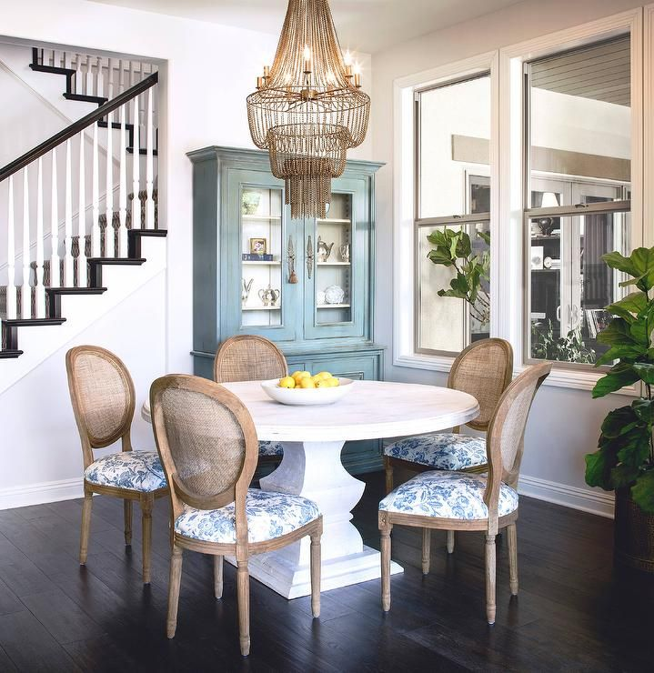 Well Designed Cottage Dining Room Is Illuminated By An Arteriors Maxim  Chandelier Hung Over A Whitewashed Part 79