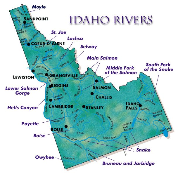 printable version map of idaho highways
