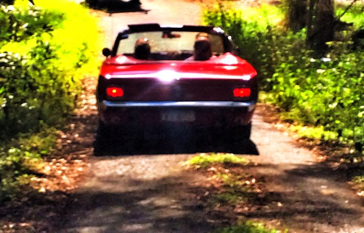 On the road. Mustang. Woooohooooo.