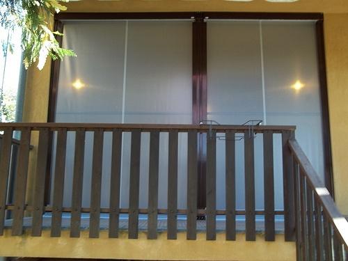 Tenda veranda invernale ermetica con frangivento e tessuto VINITEX retinato antingiallimento Torino www.mftendedasoletorino (1)
