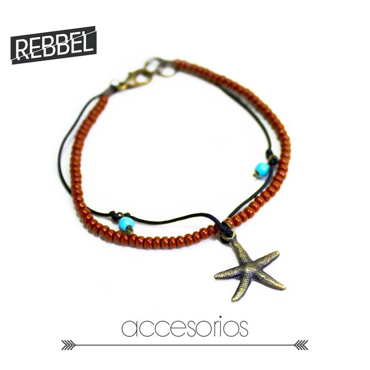 Pulsera Estrella de mar, 16 cm de largo -Ref 2015- www.rebbel.co #rebbel #new #accesorio #sea #summer #cute