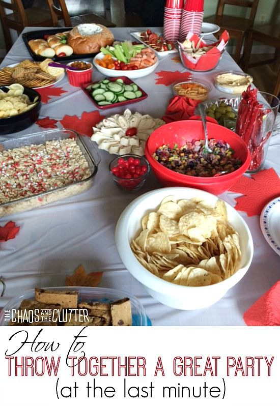 How to throw together a great party at the last minute - tips and tricks (sponsored by Renova)