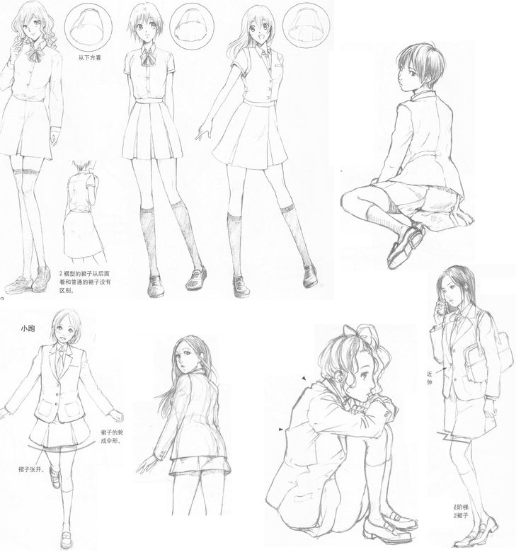 Clothes, folds and movements 12 by ~FVSJ on deviantART