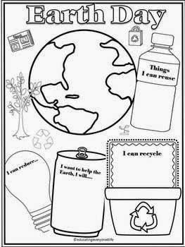 Free printable Earth Day graphic organizer