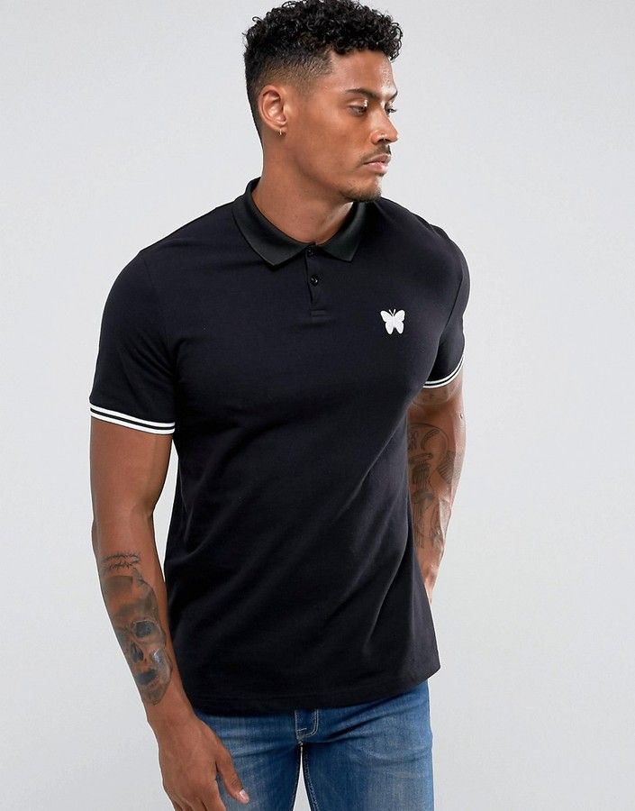 Good For Nothing Muscle Polo T-Shirt In Black